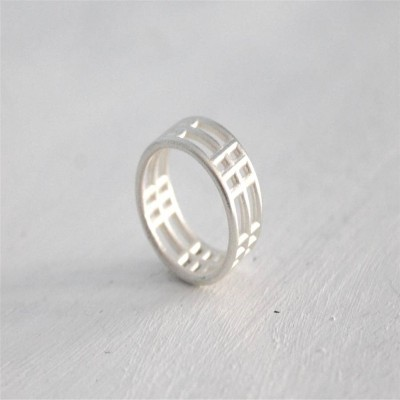 Sterling Silver Inclusions Two Ring - Name My Jewelry ™