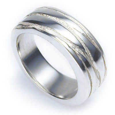 Silver Texture Bound Ring - Name My Jewelry ™