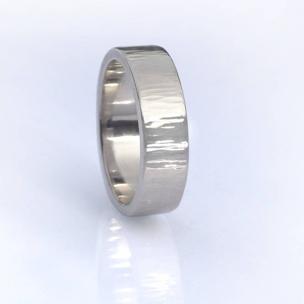 Tree Bark Textured Ring, 18ct Gold - Name My Jewelry ™