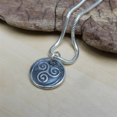 Triskelion Mens Silver Necklace - Name My Jewelry ™