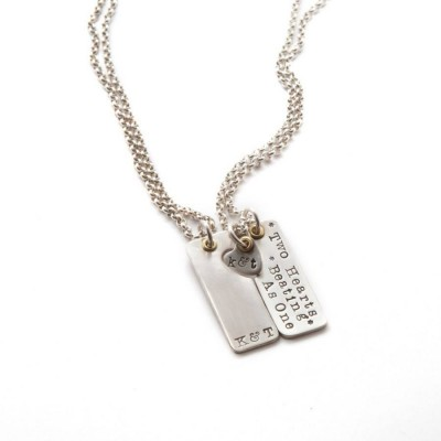 Two Hearts Beat As One Couples Necklaces - Name My Jewelry ™