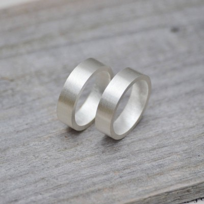 personalized Wedding Band In Sterling Silver - Name My Jewelry ™