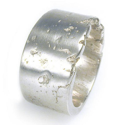 Wide Silver Concrete Ring - Name My Jewelry ™