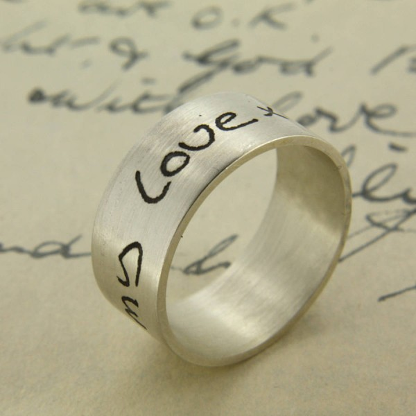 Your Own Handwriting personalized Ring - Name My Jewelry ™